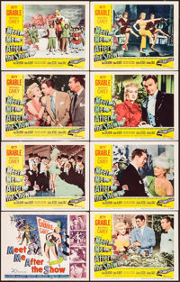 """Meet Me After the Show (20th Century Fox, 1951). Lobby Card Set of 8 (11"""" X 14""""). Comedy. ... (Total: 8 Items)"""