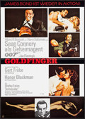 "Movie Posters:James Bond, Goldfinger (UIP, R-1980). German A1 (23.25"" X 33""). James Bond....."