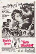 "Movie Posters:Foreign, Two Women (Embassy, 1961). One Sheet (27"" X 41""). Foreign.. ..."