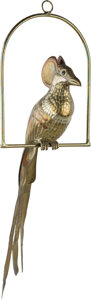 Decorative Arts, Continental, Sergio Bustamante (Mexican, b. 1949). Bird of Paradise, Pájarodel Paraiso. Welded brass and copper. 59-1/2 inches high ...(Total: 2 Items)