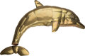 Decorative Arts, Continental, Sergio Bustamante (Mexican, b. 1949). Dolphin, Delfín.Welded brass. 53 inches wide (134.6 cm). ...