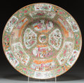 Asian:Chinese, A Large Chinese Export Famille Rose Porcelain Bowl, 19th century. 6inches high x 19-1/4 inches diameter (15.2 x 48.9 cm). ...