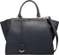 "Luxury Accessories:Bags, Fendi Black Leather Small 3Jours Bag. Excellent Condition. 12""Width x 9.5"" Height x 4.5"" Depth. ..."