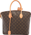 "Luxury Accessories:Bags, Louis Vuitton Classic Monogram Canvas Lockit MM Bag. Very GoodCondition. 13"" Width x 12"" Height x 6.5"" Depth. ..."