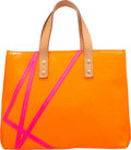 Luxury Accessories:Bags, Louis Vuitton Limited Edition Orange Monogram Vernis Leather ReadePM Tote Bag by Robert Wilson. Very Good to Excellent Co...