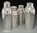 Silver Holloware, Continental, Four Art Deco Silver-Plated Cocktail Shakers, 20th century.Various makers including Christofle, Carl Deffner, AdieBrothe... (Total: 4 Items)
