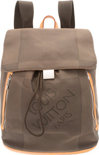 """Louis Vuitton Gray Damier Geant Nylon Canvas Pionnier Backpack Bag Excellent Condition 14"""" Width x 14"""" Heigh..."""