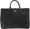 "Luxury Accessories:Bags, Prada Black Saffiano Leather Lux Tote Bag. Very Good Condition.14"" Width x 10"" Height x 5"" Depth. ..."