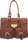 "Luxury Accessories:Bags, Prada Brown Leather Tote Bag. Excellent Condition. 13.5"" Width x9"" Height x 5.5"" Depth. ..."