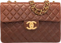 "Luxury Accessories:Bags, Chanel Brown Quilted Lambskin Leather Maxi Single Flap Bag. VeryGood to Excellent Condition. 13"" Width x 9"" Height x ..."