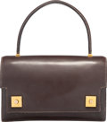 """Luxury Accessories:Bags, Hermes Ebene Calf Box Leather Piano Bag with Gold Hardware.Circa 1980's. Good Condition. 8.5"""" Width x 5.5""""Height..."""