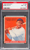 Baseball Cards:Singles (1930-1939), 1933 Goudey Babe Ruth #149 PSA NM-MT 8....