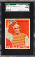 Baseball Cards:Singles (1930-1939), 1933 Goudey Benny Bengough #1 SGC 80 EX/NM 6 Pop One, FourHigher....