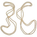 Estate Jewelry:Pearls, Cultured Pearl Necklaces . ... (Total: 2 Items)