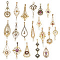 Estate Jewelry:Pendants and Lockets, Diamond, Multi-Stone, Cultured Pearl, Synthetic Stone, Gold, Yellow Metal Lavaliers . ... (Total: 20 Items)