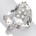 Estate Jewelry:Rings, Diamond, Colorless Sapphire, White Gold Ring, Chopard . ...