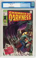 Silver Age (1956-1969):Horror, Chamber of Darkness #1 (Marvel, 1969) CGC NM+ 9.6 White pages....