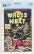Golden Age (1938-1955):Crime, Who Is Next #5 (Standard, 1953) CBCS FN- 5.5 Off-white to white pages....