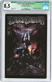 Frank Frazetta's Death Dealer #2 Frank Frazetta Cover (Image, 2007) CGC Qualified VF+ 8.5 White pages