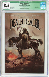 Frank Frazetta's Death Dealer #3 Frank Frazetta Cover (Image, 2007) CGC Qualified VF+ 8.5 White pages