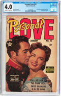 Golden Age (1938-1955):Romance, Personal Love #25 Frank Frazetta Copy (Famous Funnies Publications,1954) CGC VG 4.0 Cream to off-white pages....