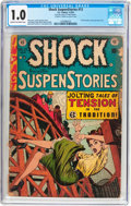 Golden Age (1938-1955):Horror, Shock SuspenStories #13 Frank Frazetta Copy (EC, 1954) CGC FR 1.0Cream to off-white pages....