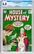 Silver Age (1956-1969):Horror, House of Mystery #66 (DC, 1957) CGC FN 6.0 White pages....