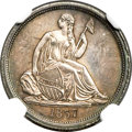 Seated Dimes, 1837 10C No Stars, Large Date, F-101b, R.2, MS66 NGC....