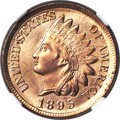 Indian Cents, 1895 1C MS67 Red NGC. CAC....