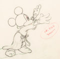 Animation Art:Production Drawing, Fantasia Mickey Mouse as the Sorcerer's Apprentice AnimationDrawing (Walt Disney, 1940). . ...