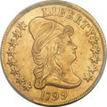 Early Eagles, 1799 $10 Large Obverse Stars, BD-10, R.3 -- Cleaning -- PCGSGenuine. AU Details....