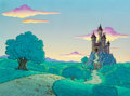 Animation Art:Painted cel background, The Smurfs Gargamel's Castle Painted Master Background(Hanna-Barbera, c. 1980s)....