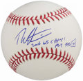 "Autographs:Baseballs, Theo Epstein Single Signed Baseball - w/ ""2016 WS Champs"" & Rare ""Fly the W"" Inscriptions...."