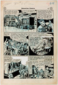 Original Comic Art:Panel Pages, Mort Meskin Sensation Comics #68 Wildcat Story Page 5Original Art (DC, 1947)....
