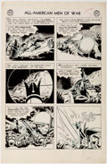 "Original Comic Art:Panel Pages, Joe Kubert All American Men of War #53 ""Night Attack"" StoryPage 3 Original Art (DC, 1958)...."