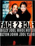 """Music Memorabilia:Autographs and Signed Items, Elton John and Billy Joel Signed """"Face 2 Face"""" Concert Program(2001)...."""