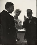 Movie/TV Memorabilia:Photos, A Marilyn Monroe and Truman Capote Rare Black and White Photograph,Circa 1955....