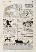 Original Comic Art:Splash Pages, Howie Post and Roberta Edelman Madballs #10 Splash Page 1Original Art (Marvel, 1988)....