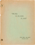 "Movie/TV Memorabilia:Memorabilia, A Script from Roger Corman's ""The Fall of the House of Usher.""..."