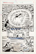 Original Comic Art:Panel Pages, Jim Valentino and Steve Montano Guardians of the Galaxy #3Story Page 5 Original Art (Marvel, 1990)....