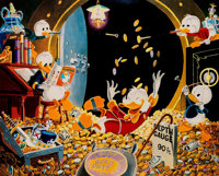 Carl Barks Time Out For Fun Signed Limited Gold Edition Miniature Lithograph Print #PP14 (Another Rainbow, 2005)