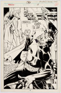 Original Comic Art:Splash Pages, Bill Reinhold and Mark Farmer Punisher #30 Splash Page 20Original Art (Marvel, 1990)....