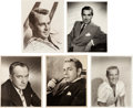 Movie/TV Memorabilia:Autographs and Signed Items, A Male Movie Star Group of Signed Black and White Photographs,Circa 1950....