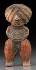 Pre-Columbian:Ceramics, A Nayarit Chinesco Standing Figure. c. 200 BD - 200 AD...