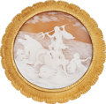 Estate Jewelry:Brooches - Pins, Shell Cameo, Gold Pendant-Brooch, Buccellati. ...