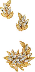 Estate Jewelry:Suites, Diamond, Gold Jewelry Suite, Honore. ... (Total: 2 Items)