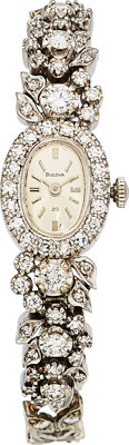 Bulova Lady's Diamond, White Gold Watch