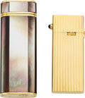 Estate Jewelry:Other, Sapphire, Mother-of-Pearl, Gold Lighters. ... (Total: 2 Items)