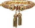 Estate Jewelry:Bracelets, Diamond, Ruby, Emerald, Gold Bracelet . ...