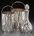 Silver Holloware, Continental, Two Fratelli Cacchione Italian Silver Wine Buckets and SilverDecanter, 20th century. Marks: STERLING, ITALY, F.C.,(sta... (Total: 3 Items)